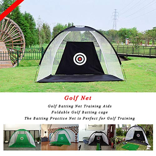 WUTONG Golf Batting Net Training Aids Foldable Golf Batting cage Field...