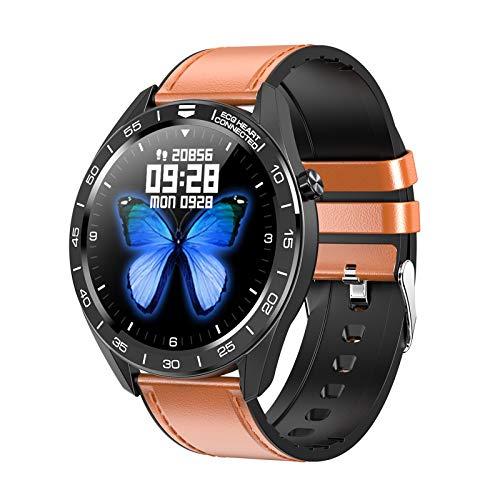 JHHXW Reloj Elegante, Pantalla TFT de 1,3 Pulgadas, Pulsera de los Deportes del podómetro, selector, IP68 a Prueba de Agua, Mensaje Push, Inteligente recordatorio, 200mAh, Android/iOS