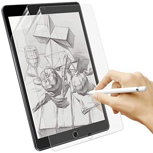 Sross-TEC 2 Stück Schutzfolie für iPad 10.2, Write Like Paper Folie für iPad 10.2 2021/2020/2019,Feel Like Paper Matte Bildschirm Bildschirmschutz Folie für iPad 9/8/7Generation [Unterstützt Pencil]