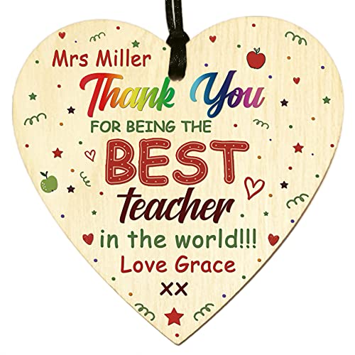 Thank You Teacher TA Personalised Any Name Gifts for Teacher,Nursery...