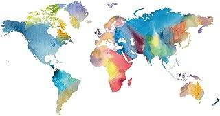 world map wallpaper for nursery