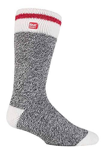 HEAT HOLDERS - Herren Thermosocken Winter Warm 2.3 tog Socken (39-45 eur, Grey Block Twist)
