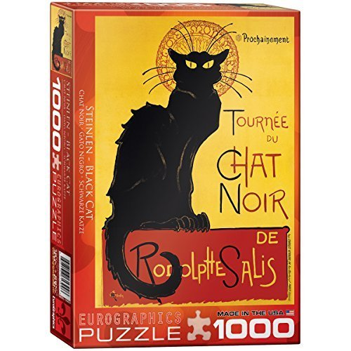 EuroGraphics Chat Noir by Steinlen 1000 Piece Puzzle by EuroGraphics