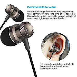 3 Packs Earbud Headphones with Remote & Microphone, SourceTon In Ear Earphone Stereo Sound Noise Isolating Tangle Free for iOS and Android Smartphones, Laptops, Gaming, Fits All 3.5mm Interface Device