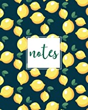 Notes, Composition Notebook: Navy Lemons, 150 Pages, Medium (College) Ruled, 6