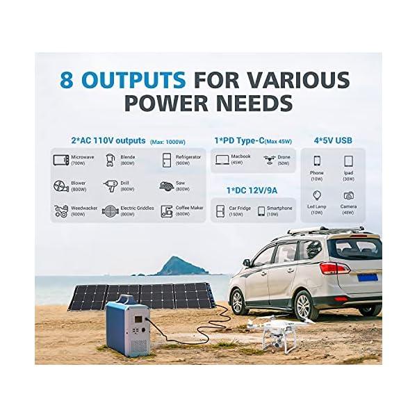 MAXOAK Power Station 2400Wh/1000W Inverter BLUETTI EB240 Portable Solar Generator Emergency Battery Backup Pure Sinewave…