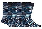 sock snob - 6er pack herren bunt muster gestreift baumwolle socken mit komfortb& (39-45 eur, SS Leicester)