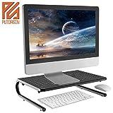 PUTORSEN Soporte de Monitor pc de Premium - Elevador de Monitor 4' de Altura para Laptop, Ordenador, PC, Impresora, Soporte Metálico Ergonómico de Escritorio para Monitor