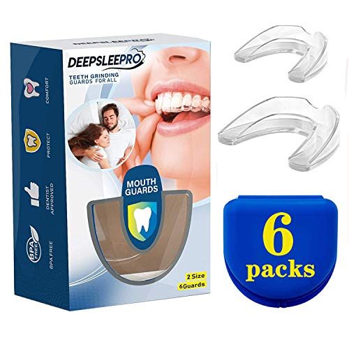 Health Professional Dental Guard - Pack of 6 - New Upgraded Anti Grinding Dental Night Guard, Stops Bruxism, Tmj & Eliminates Teeth Clenching
