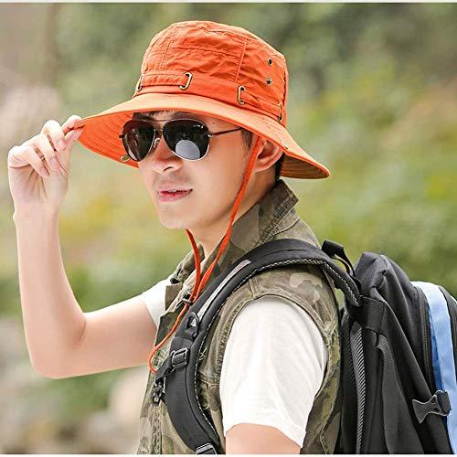 BGSFF Sombrero para el Sol Unisex de ala Ancha Plegable, Gorra de Pesca para Actividades al Aire Libre de poliéster, Sombrero de Playa con protección UV de Verano C1556 (Color: Naranja)