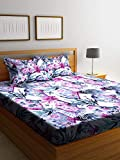 Bombay Dyeing Sege 180TC King Size One Double Bed Sheet with Two Pillow Cover