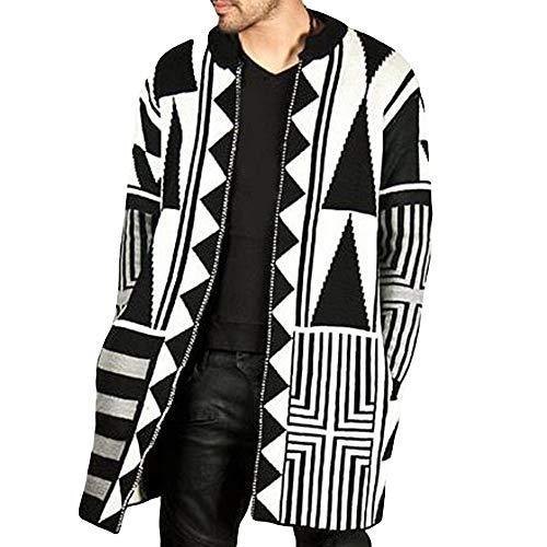 FRAUIT wollen mantel heren herfst-wintermode trendy persoonlijkheid van mannen zwart-wit grijze naaimantel