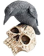 Nemesis Now Ravens Remains - Rabe auf Totenschädel Sculpture standaard