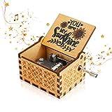 Achort Caja de música You are My Sunshine Vintage Manivela Caja de música Caja musical Regalos para cumpleaños, Navidad, San Valentín, decoración del hogar