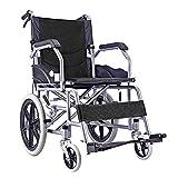 WXDP Autopropulsado auto estilo doble luz Seniors/discapacitado carretilla portátil ligera estupenda del viaje de la carretilla de la carretilla, portátil