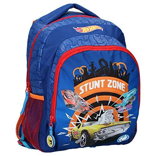 Hot Wheels Stunt Zone - Mochila infantil, color azul