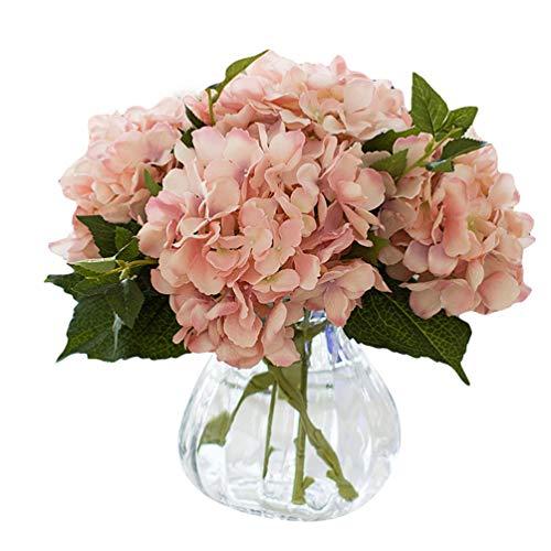 Dooxi Schöne Hortensie Künstliche Blumen Kunstblume Blumenstrauß Blumen-Bouquet Bridal Bouquet Blume Hochzeit Home Party Dekoration