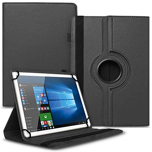 Tablet Hülle kompatibel für Xido Z120 Z110 X111 X110 Tasche Schutzhülle Hülle Cover aus Kunstleder Standfunktion 360° Drehbar, Farben:Schwarz