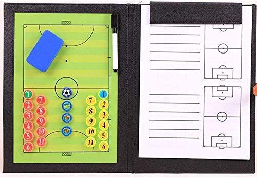 ZHXY Faltbares magnetisches Fußballtrainer-Brettspiel-Spieltrainingsbrett mit fünf Seiten,umschreibbar