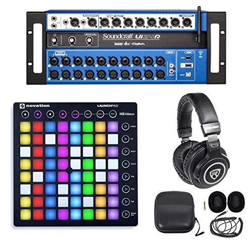 Soundcraft Ui24R 24 Input Digital Recording Mixer w/Wifi+Launchpad+Headphones