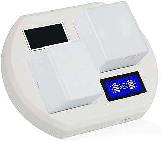 Batteriladdare, Videokamera USB-batteriladdare för Arlo Pro 2/Pro/walk Light Batteri Dual Charge LCD Smart Base Charger