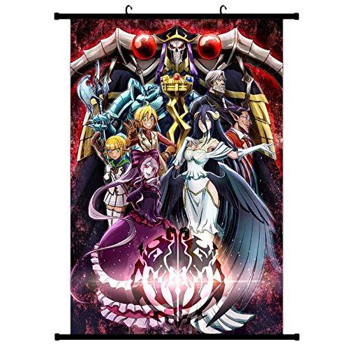ALTcompluser Anime Poster Overlord Rollbild Kakemono Wallscroll Dekorative Wandbild Hängendes Plakat, Wand Zimmer Deko(40 × 60 cm)