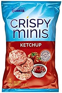 Quaker Crispy Minis Ketchup 100 Grams/3.52 Ounces (2 pack) {Imported from Canada}