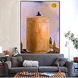 Arte en lienzo Idea surrealista Paisaje de Salvador Dalí El mundo espiritual Pintura sobre lienzo Póster e impresión para la decoración de la sala de estar-60X80cm Sin marco