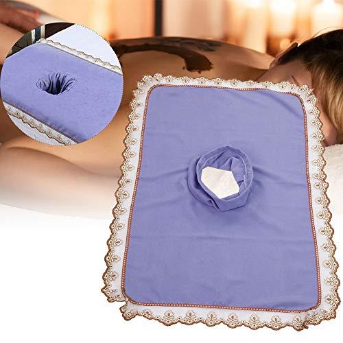 Telo coprimaterasso per lettino da massaggio spa, copriletto per lettino da massaggio con lenzuolo per lettino da massaggio per buche(Viola)