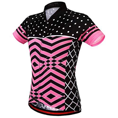 Ropa Ciclismo Mujeres Verano,Mujeres Camiseta Ciclismo Manga Corta,Transpirable Secado Rápido Camiseta Manga...