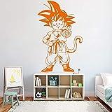 wZUN Dibujos Animados Creativo Dragon Ball Vinilo Pegatinas de Pared habitación de los niños Sala de Estar Pegatinas de Pared extraíble decoración del hogar Mural 100X63cm