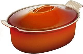 Best le creuset heritage enameled cast iron oval cocotte Reviews