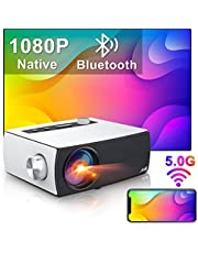 """Full HD Projector Wifi Bluetooth, Artlii Enjoy3 Native 1080P Mini Projector, 2.4G/5.0G WiFi, Dolby Stereo, Max 300"""" Screen, Home Theater Projector Compatible with iOS, Android, TV Stick, PS4, X-Box, Laptop, Smartphone"""