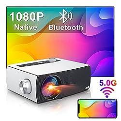 🔥【Videoprojecteur Full HD Natif 1080P】 Doté d'une résolution native de 1920x1080P et + 60% de rapport de contraste par rapport à la génération précédente, offre une luminosité supérieure à +80% par rapport aux autres projecteurs 1080p, offre une qual...