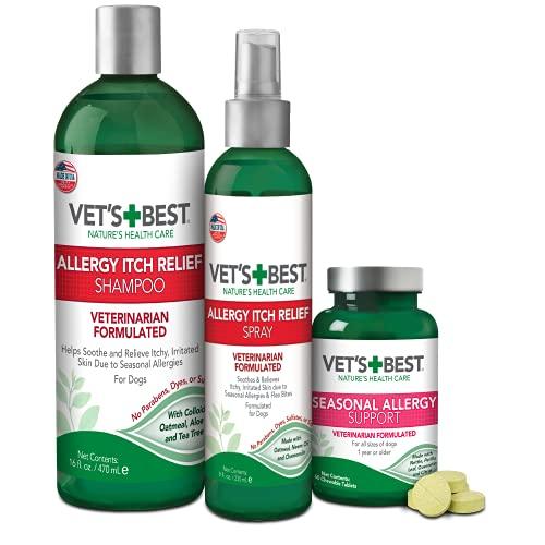 Vet's Best Seasonal Allergy Kit   Soothes Dog Dry Skin  ...