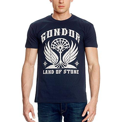 Herr der Ringe Elbenwald T-Shirt Gondor – Land of Stone Frontprint blau - M