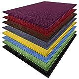 Fußmatte Sky Color | strahlende Farben | Schmutzfangmatte mit Gummirand in passender Farbe | sehr gute Schmutzfangwirkung | Brilliant Blue (50x85cm)