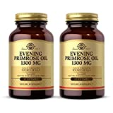 Solgar Evening Primrose Oil 1300 mg, 60 Softgels - Pack of 2 - Promotes Healthy Skin & Cardiovascular Health - Nutritional Support for Women - Non-GMO, Gluten Free, Dairy Free - 120 Servings