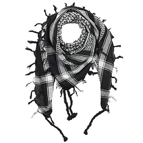 Freak Scene Superfreak® Pañuelo pali con color de base negro°chal PLO°100x100 cm°Pañuelo palestino Arafat°100% algodón – ¡Todos los colores!
