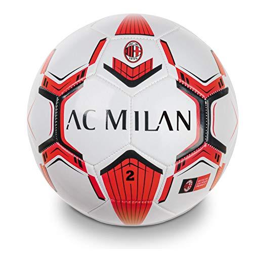 Mondo Toys - Pallone da Calcio cucito A.C. Milan Pro - size 2 - 150 g - Colore rosso/nero - 13716