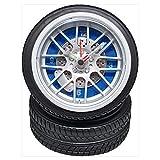 アラーム付き タイヤクロック ミニサイズ REH-CA608B-BL 青
