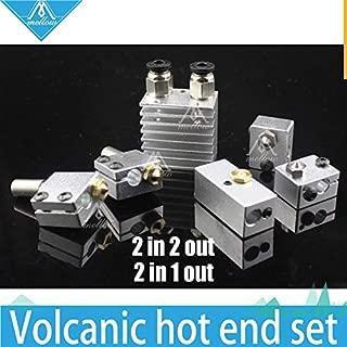 AiCheaX - All-Metal/Teflon Cyclops and Chimera Dual Multi-Extrusion HotEnd Double Volcano/-V5 V6 Nozzle Head Kit for 1.75mm 3D Printer