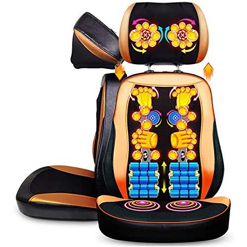 Lzour Shiatsu Massage Sitzkissen - 2D / 3D-2-in-1-Modi Rückenmassagegerät mit Wärme, Shiatsu-Massagesessel Sitzkissen, Rücken und Nacken-Massagegerät