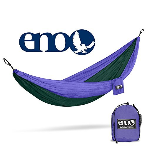 ENO Eagles Nest Outfitters - DoubleNest Hammock, Portable Hammock for Two, Purple/Forest