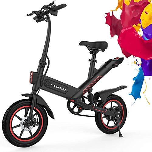 Bicicletta Elettrica Adulto,Pieghevole Mountain Bike Con Motore Da 350 W,Batteria Ad Alta Capacità Da 10 Ah, Pneumatici Da 14 Pollici,Ammortizzatore Centrale,3 Modalità di Lavoro