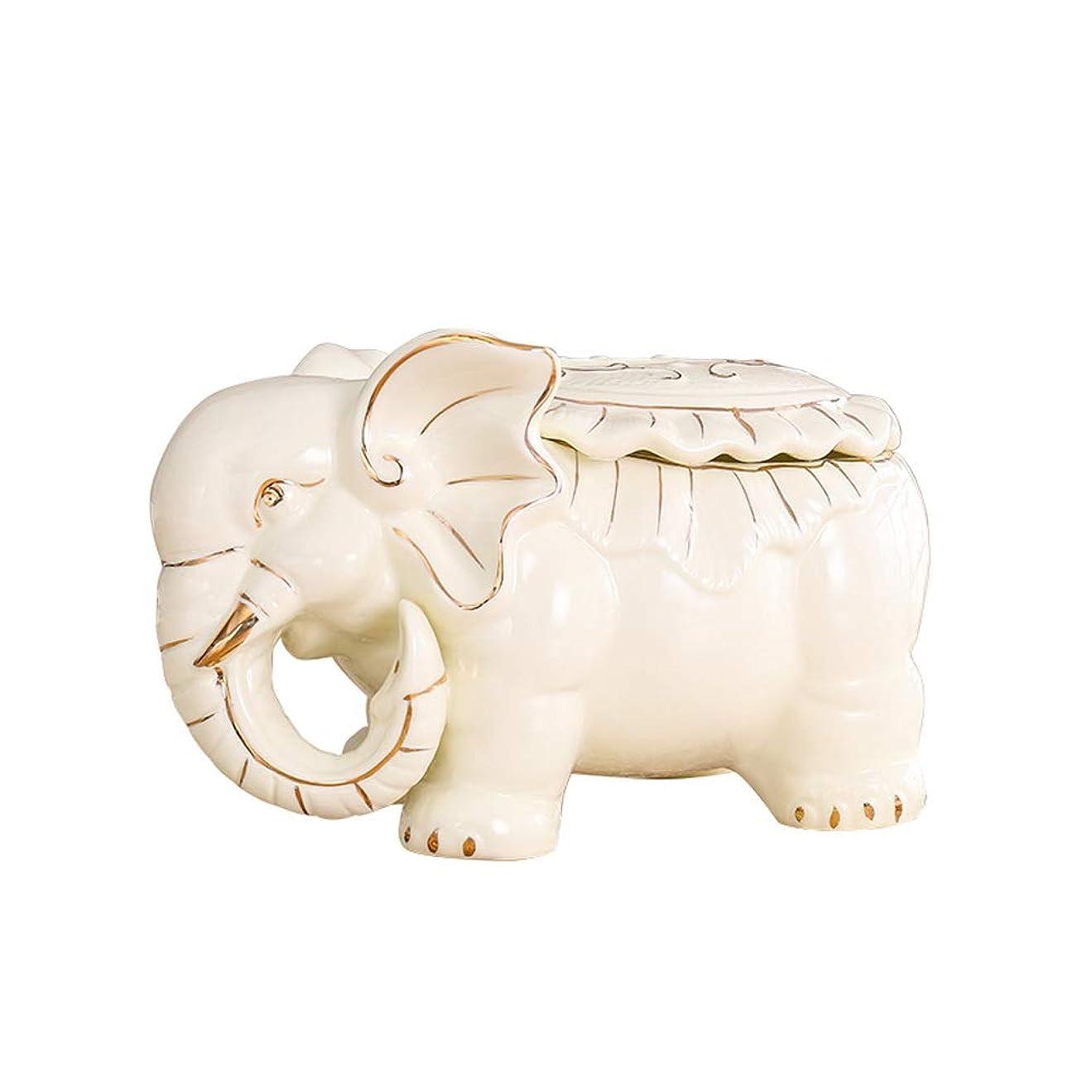 民間アーサー取り壊すLWT-Tissue Box ヨーロッパの現代陶磁器の象のティッシュ箱の皿のテーブルの装飾30.5X16cm