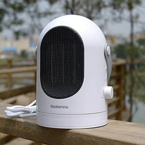 Luoshan 600W Invierno Mini Calentador eléctrico Ventilador Calentador Cabeza sacudidora Escritorio Hogar Radiador Ahorro de energía, Reino Unido Enchufe (Blanco) (Color : White)