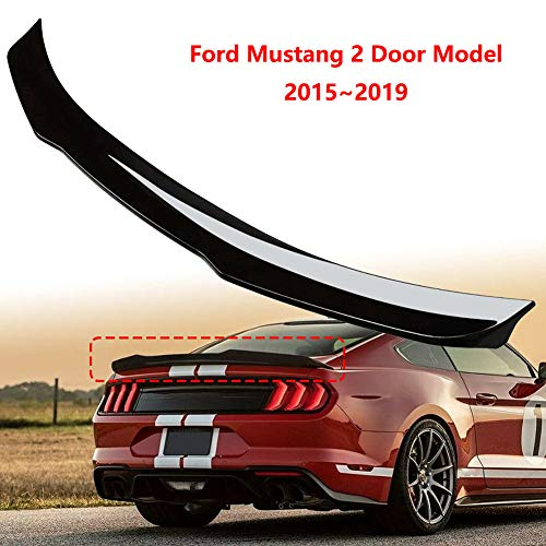 Matte Black Topfit Model 3 Rear Trunk Spoiler Pedestal ABS Water Retaining Lid Wing Rear Window Performance Spoiler Cover Trim Compatible for Model 3