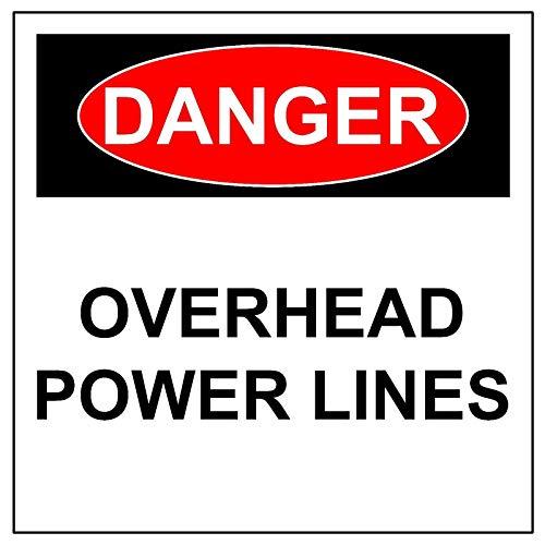 BCTS Señal de advertencia de peligro por encima de las líneas eléctricas,...