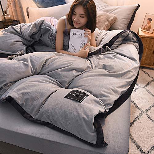 SFHGKK beddengoed set, Ultra zacht kristal fluwelen stof Cover kussensloop en bed Rok set 4 Stks met rits sluiting voor thuis Double Size 200 * 230 cm